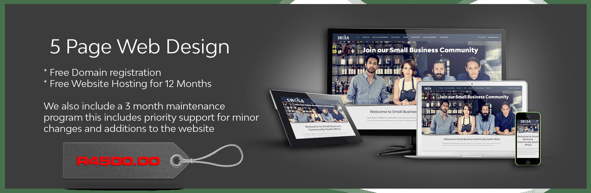 5 Pages of good website design