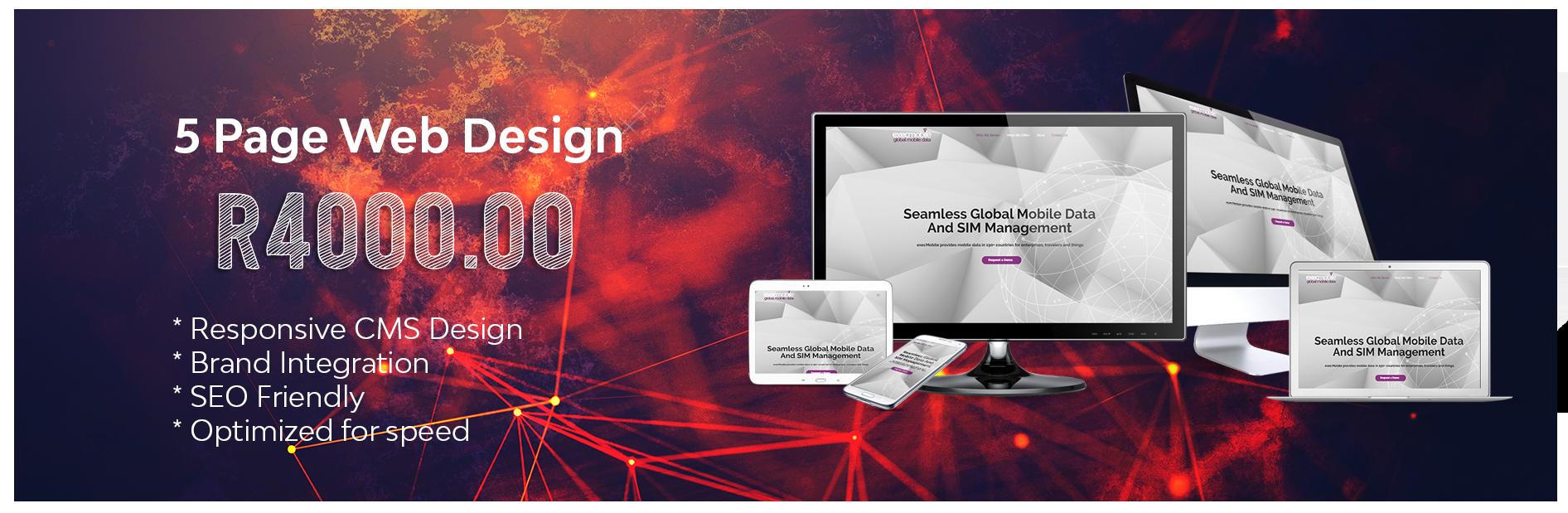 5 PAge Web Design